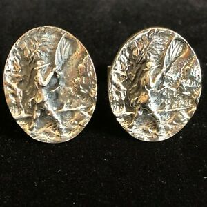 Sterling Silver FISHING Cuff links Vintage 50s Modernist FENWICK & SAILORS F&S