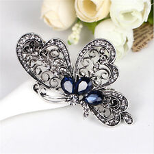 New Vintage Women Butterfly Crystal Hair Clip Hairpin Barrette Accessories Gift