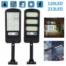 213LED Solar wall Light PIR Motion Sensor Waterproof IP65 Dusk to Dawn 2 Modes