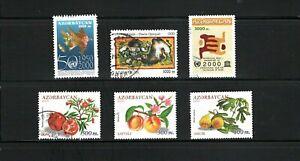 Azerbaijan -- 6 diff used commemoratives from 1999 -2002 -- cv $8.95