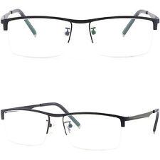 Light Half Rim Frames Men Women Prescription Glasses Photochromic Lens Navy Blue