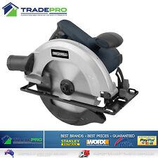 """Circular Saw 185mm Electric 71/4"""" PRO 1200W Wood Cutting Blade & Dust Port"""