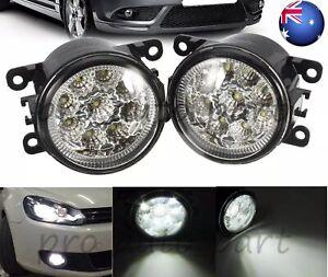Pair LED Fog Light Lamp Fr Subaru Forester Impreza Levorg Liberty Outback WRX XV
