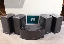 5 Mint Bose Jewel Double Cube Speakers Included Center Channel Horizontal Black.