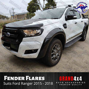 Fender Flares Gloss Black for Ford Ranger PX2 2015 2016 2017 2018 Guard Trim