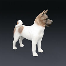 Resin Mini Akita dog Hand Painted simulation model Figurine Statue