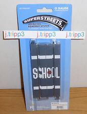 "K-LINE LIONEL SUPERSTREETS TRACK 6-21572 5"" STRAIGHT SCHOOL ROADWAY O GAUGE PACK"