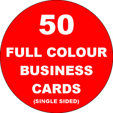 50 Full Colour Single Sided Business Cards Printed on 350gsm Card