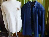 lot pull mixte et chemises taille 6    en jean ,décontractée ,super état