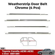 4x Outer Weatherstrip Door Belt Chrome Fits Toyota Corolla AE90 AE92 Sedan 87-91