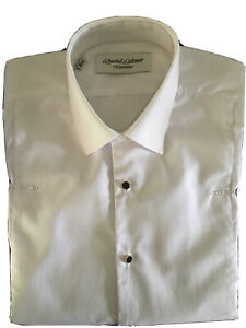 "MENS RAEL BROOK CLASSIC FIT MARCELLA FRONT DOUBLE CUFF DRESS SHIRT 15"" COLLAR"