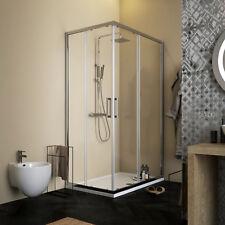 Box doccia 80x120 cm cristallo trasparente anticalcare installazione reversibile