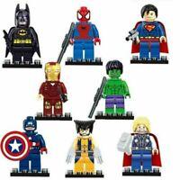 8Pcs Avengers Superheroes Batman Hulk Superman Mini figures Building Blocks SG