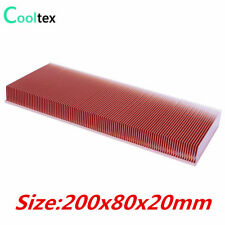 Pure Copper  200x80x20mm Skiving Fin Heat Sink Radiator For Electronic  Chip LED