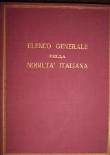 ELENCO GENERALE DELLA NOBILTA' ITALIANA. L'Araldica,3 *slb14