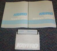 "KAYPRO Datastar Supersoft Calcstar 5.25"" diskette & 2 Datastar Manuals 1983"