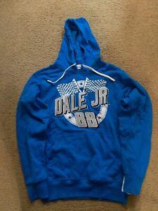 New Dale Earnhardt Jr. #88 NASCAR Hoodie Pullover sweatshirt Royal Blue Large