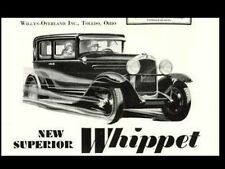 Willys-Overland Whippet 6 98 Operations & Care Manual with Whippet Brochure Art