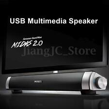 MIDAS-2.0 USB Power Multimedia Speaker Sound Bar Soundbar For Laptop Smart Phone