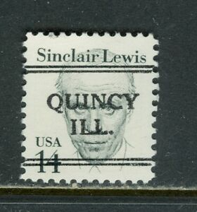 Quincy IL 241 DLE precancel on 14 cent Great American issue