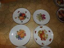 LOT OF 4 PLATES FRUIT THEME GERMANY LOVELY GROUP