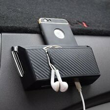 Black Car Accessories Organizer Box For Phone Cigarette Storage w/Charging hole