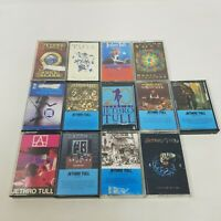 Jethro Tull Lot of 13 Cassettes with Cases, Rock