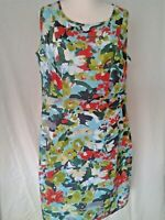 Adini 100% cotton sundress self half belt sidezip opening fully lined sleeveless