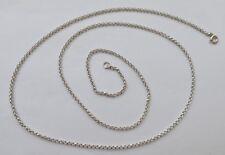 Erbsenkette Halskette 835 Silber rhodiniert Vintage 60er a necklace silver