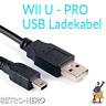 Wii U Pro Ladekabel USB für Controller Daten Kabel Gamepad Stromkabel Netzteil