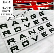 2x GLOSS BLACK Range Rover Lettering sets - L322 SPORT Evoque - FRONT & REAR