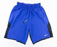 "Nike Dri-Fit Mens XL 12"" Inseam Vented Basketball Shorts Pockets Blue Black"