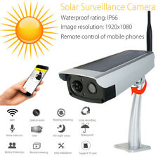 Outdoor Solar Powered Wireless WIFI IP Surveillance Security Camera Night Vision