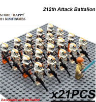 21 Pcs Minifigures 212th Attack Trooper Orange -Star War Clone Trooper Lego MOC