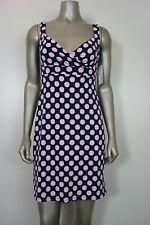 Charter Club Women's Petite Pink/Blue Geometric Polka Dot Dress PP