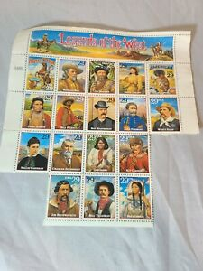 Legends of the West - Sheet of (17)  29 Cents Stamps
