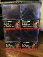 Ultra Pro 3X4 PREMIUM Toploaders 35pt 4 Packs of 25 for Standard Cards - 100