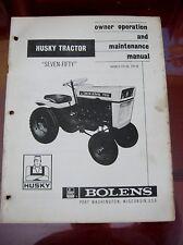 1967 FMC Bolens 750 Husky Tractor 171-01_172-01 Owners/Maintenance Manual_ORIG