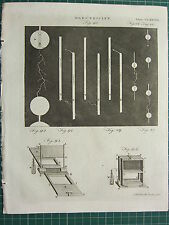 1797 ORIGINAL ANTIQUE PRINT ~ ELECTRICITY ~ EQUIPMENT EXPERIMENT