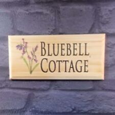 Personalised Bluebell Sign, House Name Plaque Cottage Home Number Address Flower
