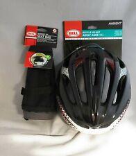 Bell Sports Ambient Adult Bike Helmet, Black/White/Red  & Black Seat  Bag  COMBO