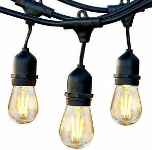 Brightech Ambience Pro Waterproof LED Outdoor String Lights 48' Commercial Grade