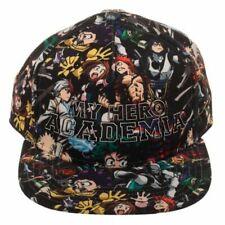 ANIME MY HERO ACADEMIA HIGH DENSITY ALL OVER PRINT ADJUSTABLE SNAPBACK HAT CAP