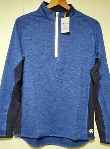 Peter Millar Crown Sport Active Golf Quarter Zip Pullover Mens Small NWT $125.00