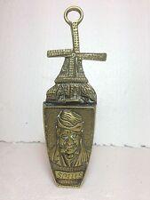 Antique SPILLS solid brass tobacco / match holder