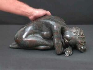"Bronze Sculpted Lady ""Fetal"" Real Lost Wax Process"