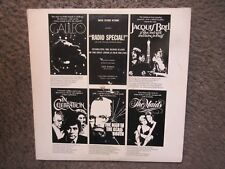 "THE AMERICAN FILM THEATRE ""THE SECOND SEASON RADIO SPECIAL"" 1975 W/SCRIPT EX/VG+"