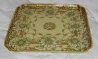 I E & C Co Japan Gold Moriage Tray Large Square 18483 Vintage Antique