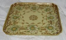 I E & C Co Japan Gold Moriage Tray Large Square 18483 Vintage Antique