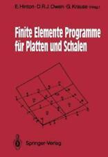 Finite Elemente Programme Fa1/4r Platten Und Schalen